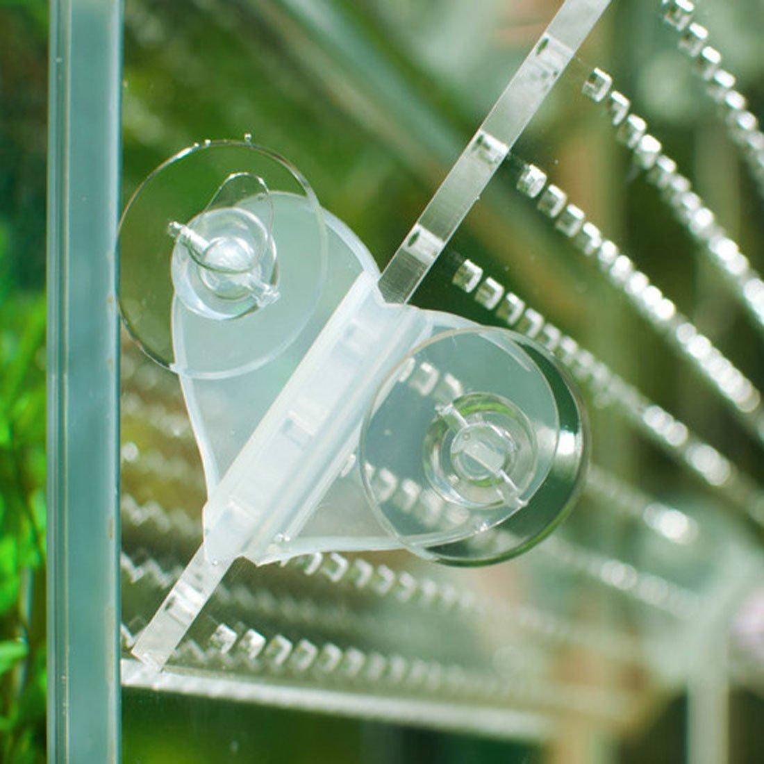 Amazon.com : eDealMax acuario en Forma de corazón Diseño de Cristal Copa de succión Divisor Titular abrazadera del Clip 6 in1 : Pet Supplies