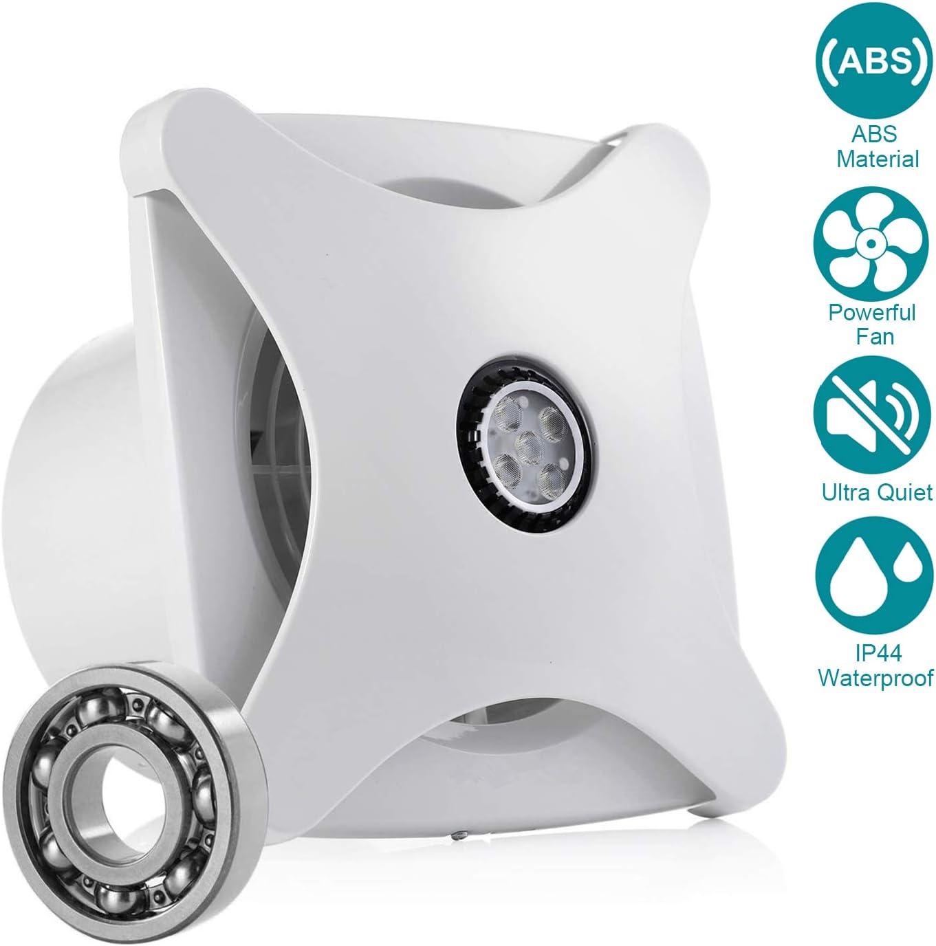 HG Power 150mm Ventilador Extractor de aire Silencioso 197m³/h para Oficina, Baño, Dormitorio
