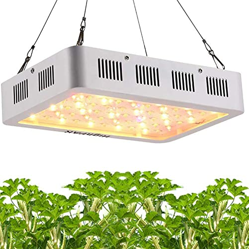 Grow Light, HighPAR Full Spectrum 600W LED Plant Grow Lamp for Indoor Hydroponic Medical Plants Veg Bloom Switch White Red UV IR LED Hanging Double Chips Grow Light 10W LED, 60pcs , White