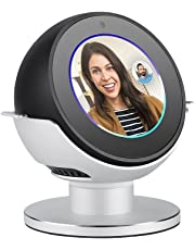 Echo Spot Stand Elecguru 360°Rotatable Aluminum Alloy Stand Mount with Anti-Slip Base Protector for Amazon Echo Spot (Silver)