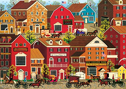 Buffalo Games - Charles Wysocki Americana Collection - Lilac Point Glen - 500 Piece Jigsaw Puzzle