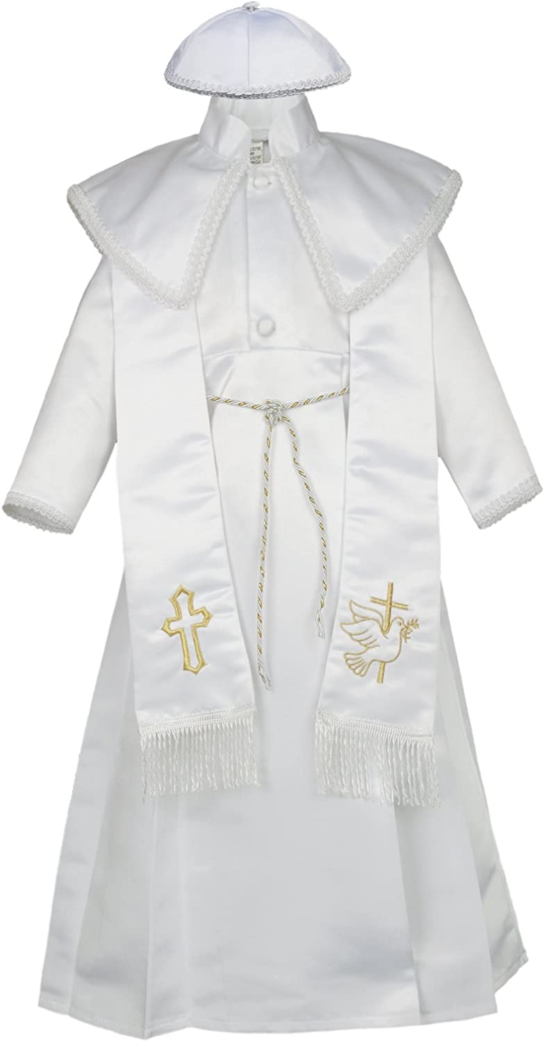 Unotux Baby Boy Christening Baptism Gown Gold Outfit Dove Cross Church Hat 0-30M