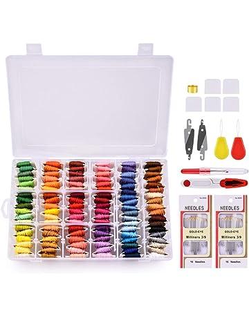 Madejas de Hilos, Hisome 108 pulseras de la amistad de los colores Seda del arte
