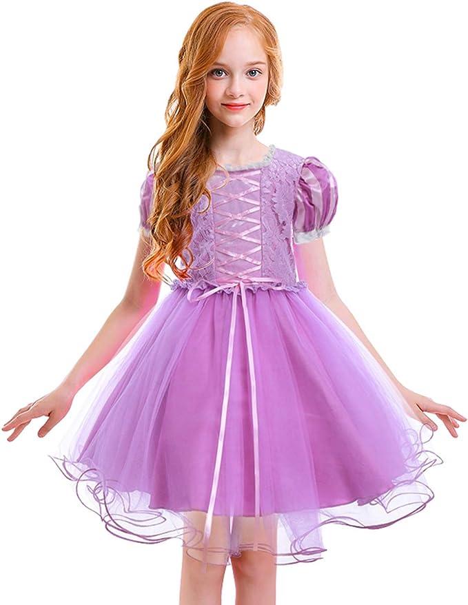 OwlFay Disfraz Sofia Traje de Princesa Rapunzel Disfraz Carnaval ...