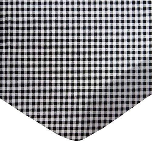 SheetWorld Fitted Sheet  - Black Gingham Check - Made In USA