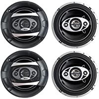 4) NEW BOSS AUDIO P65.4C 6.5 4-Way 800W Car Audio Coaxial Speakers Stereo P654C