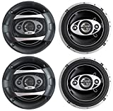 4 New BOSS Audio P65.4C 6.5' 4-Way 400W Car Audio Coaxial Speakers Stereo P654C
