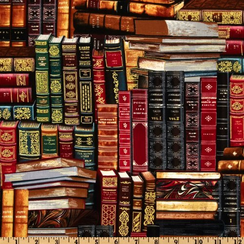 Timeless Treasures Packed Books Multi Fabric By The Yard 4336912995
