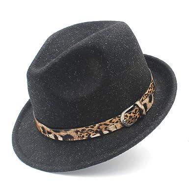 1e0c55e4837 Jusheng Women s Men s Wool Felt Homburg Jazz Fedora Hat for Elegant Lady  Cashmere Trilby Fedora Jazz