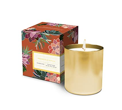 Studio Oh! Gift Boxed Hand-Poured Scented Candle Available in 9 Fragrances,  Prosecco and Vanilla