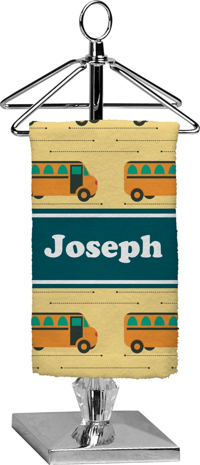 RNK Shops School Bus Finger Tip Towel - Full Print (Personalized)