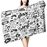 UHOO2018 Baby Bath Towel Inside The Video Game Industry Print Wrap Towels W 10'' x L 39.5''