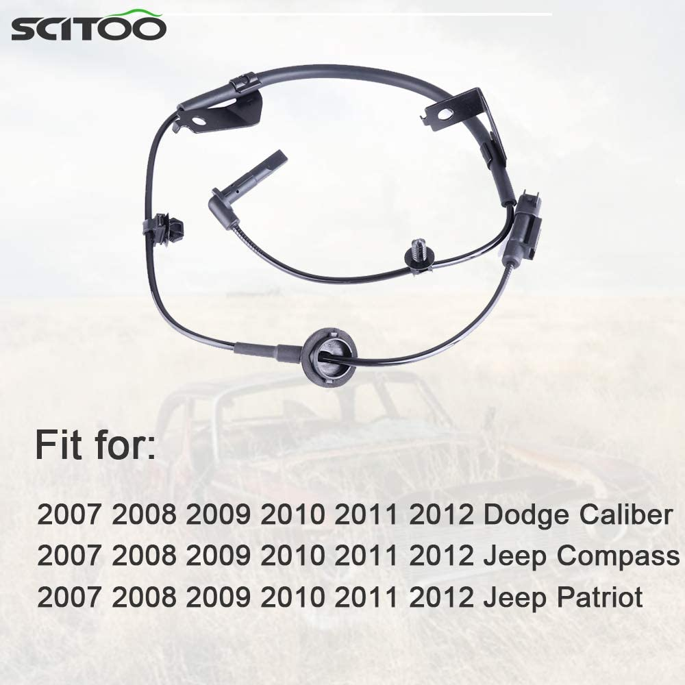 SCITOO 2 pcs Front Left Right ABS Wheel Speed Sensors Fit for 2007 2008 2009 2010 2011 2012 Dodge Caliber,2007 2008 2009 2010 2011 2012 Jeep Compass//Patriot ALS2088 ALS2084