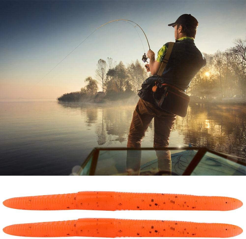 10pcs Worm Fishing Lures Soft Fishing Baits with 10cm//4g for Fisherman Dad Gift