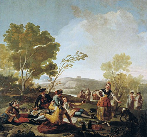 Team Bank Rams Louis - Oil Painting 'Goya Y Lucientes Francisco De Picnic On The Banks Of The Manzanares 1776' 20 x 21 inch / 51 x 54 cm , on High Definition HD canvas prints is for Gifts And Bar, Basement And Livin decor