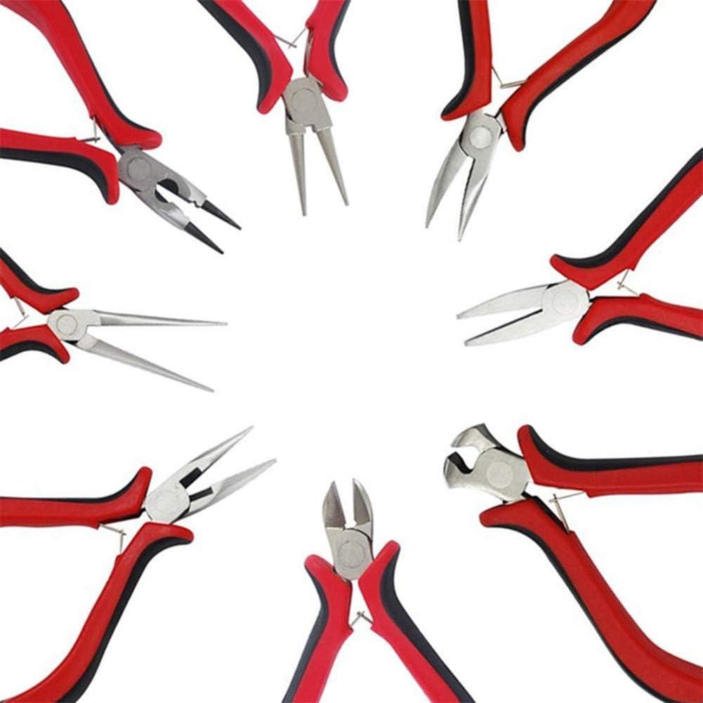 para hacer joyas alicates cortadores de alambre herramientas de joyer/ía para cables el/éctricos de ordenador cortar agujas hacer cuentas 8 alicates de corte para joyer/ía