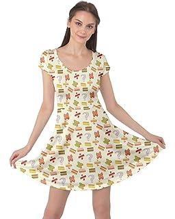 8bd2704434fed CowCow Womens Math Symbols Mathematics Formula Chemistry School Short  Sleeve Dress, XS-5XL