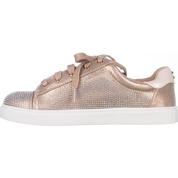 Amazon.com: MG35 Melanie Flat Lace-Up Fashion Sneakers, Bronze, 5 US: Shoes