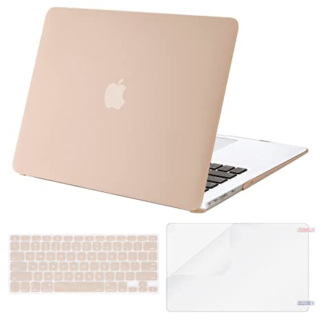 MOSISO Plastic Hard Shell Case & Keyboard Cover & Screen Protector Only Compatible with MacBook Air 13 inch (Models: A1369 & A1466, Older Version ...