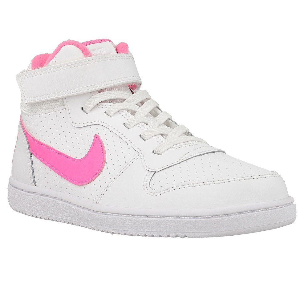 Nike Court Borough Mid - 870031100 - Color White-Pink - Size: 11.0 by NIKE