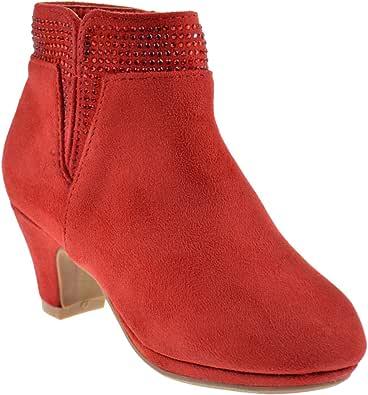 Belle Marie Graciela 12 Little Girls Ruffle Heel Ankle Dress Boots