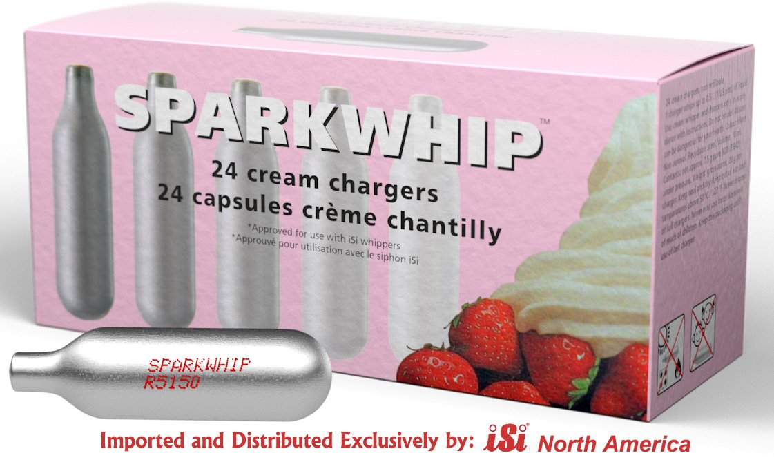 Sparkwhip by iSi Whipped Cream Chargers-240 Pack-10 Boxes of 24 by iSi North America