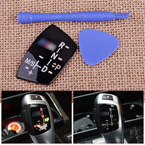 Gear Shift Knob Panel Sticker LHD Models AT for BMW //M E82 E90 E60 F10 F30 F34