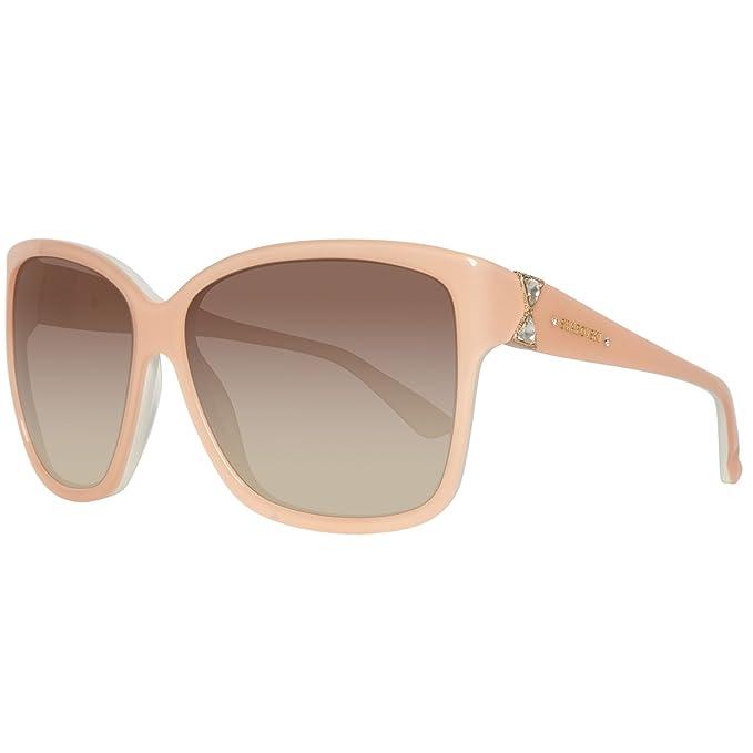 Swarovski SK0057-6074F Gafas de Sol, Pink/Gradient Brown, 60 ...