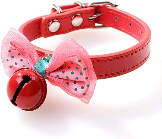 Gespout 1PCS Perro Mascota Corbata de Lazo Color Collar Punto de ...