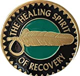 American Indian Healing Spirit Of Recovery Sobriety Medallion Chip & Vinyl Protector