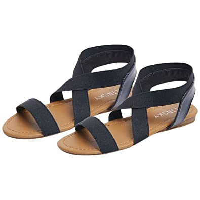 14dc402445c8 Outsta Shoes Women s Low Heel Anti Skidding Beach Shoes Cross Strap Sandals  Peep-Toe Sandals 2019 Shoes  Buy Online at Low Prices in India - Amazon.in