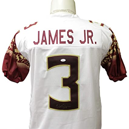 huge selection of 9f3e2 8d67b Derwin James Autographed Signed White Custom Florida State ...
