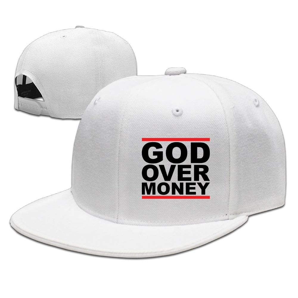 DACHENGXIAOSHI Unisex Adjustable Hat Flat-Brim Baseball Cap Dad Hat Baseball Hat - God Over Money