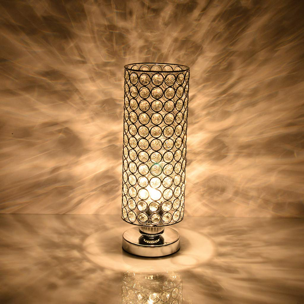Amazon.com: Hstore Lámpara de mesa, decorativa de cristal ...
