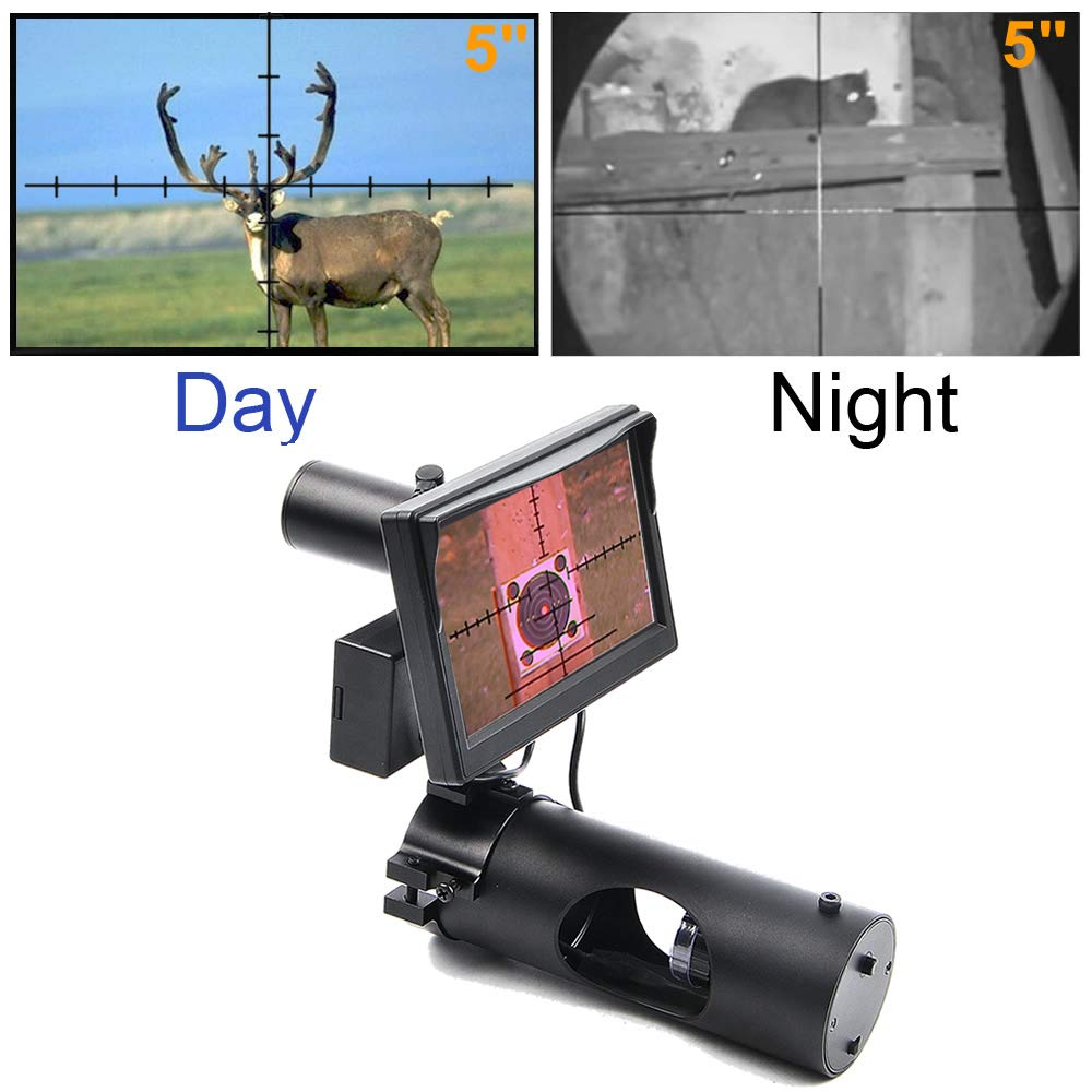 Digital Night Vision Scope for Rifle Hunting with Camera and 5'' Portable Display Screen
