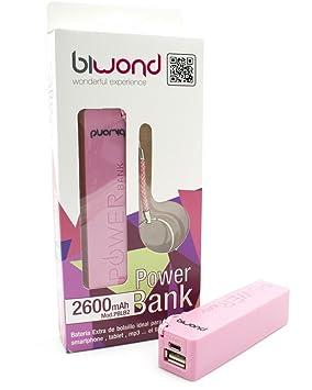 Power Bank Llavero 2600mAh Rosa
