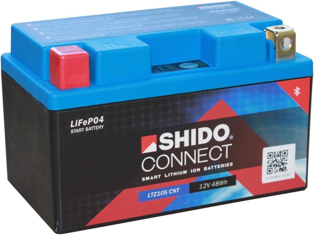 Batterie Shido Connect Lithium Ltz10s Cnt Ytz10s 12v 8 6ah Maße 150x87x93 Auto