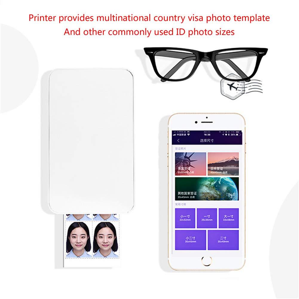 Impresora fotográfica portátil instantánea móvil, tamaño de ...