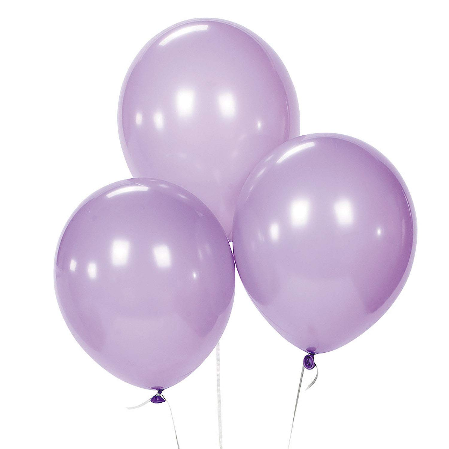 12inch Pearl Purple Balloons 100pcs Perfect for Light Purple Theme Birthday Party Bridal Shower Engagement Wedding Party Decor