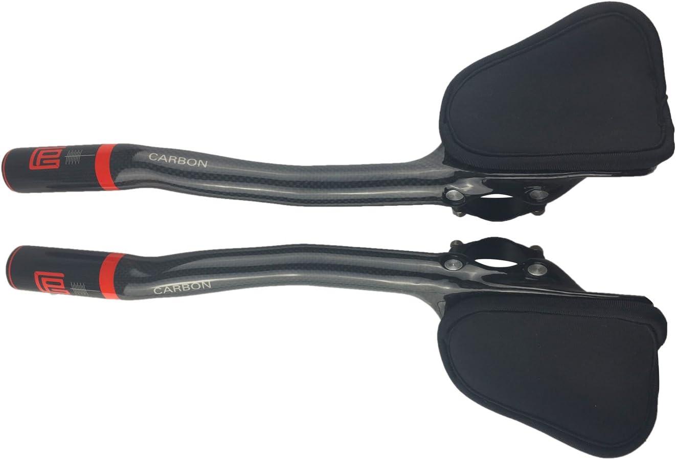PLATT Triathlon Guidon 3K Carbon Repos V/élo Prolongateur Aero Bar Tri Barres pour VTT Cyclisme V/élo Route,31,8mm