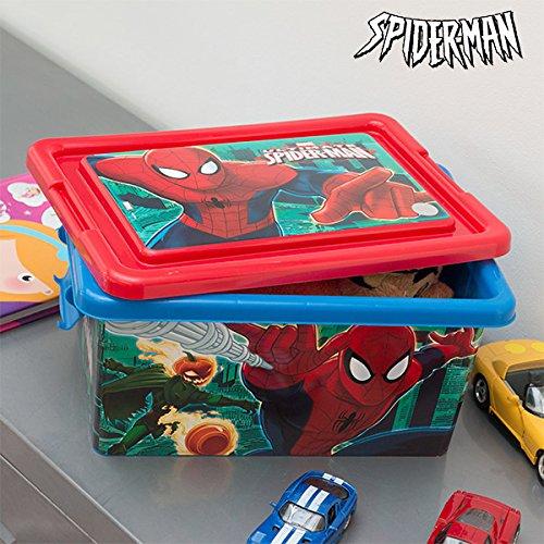 Caja para guardar juguetes Spiderman (32 x 23 cm): Amazon.es: Jardín