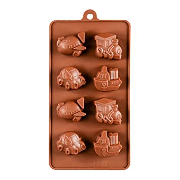 BESTONZON molde de silicona para bombones Repostería cubitos de hielo forma de barco 8 cavidades para (Café): Amazon.es: Hogar
