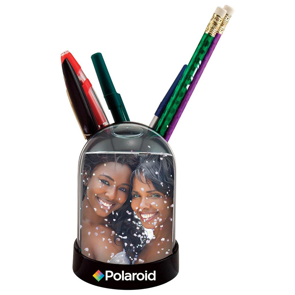 "Polaroid Colorful LED Light Up Snow Globe & Interactive Photo Holder – Great Display For Your 2x3"" Polaroid Memories For Zink 2x3 Photo Paper Projects (Snap, Pop, Zip, Z2300) PL-2X3SGSLED"