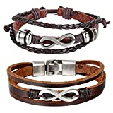Cupimatch 2 Pieces Love Infinity Charm Couples Leather - Best Reviews Guide