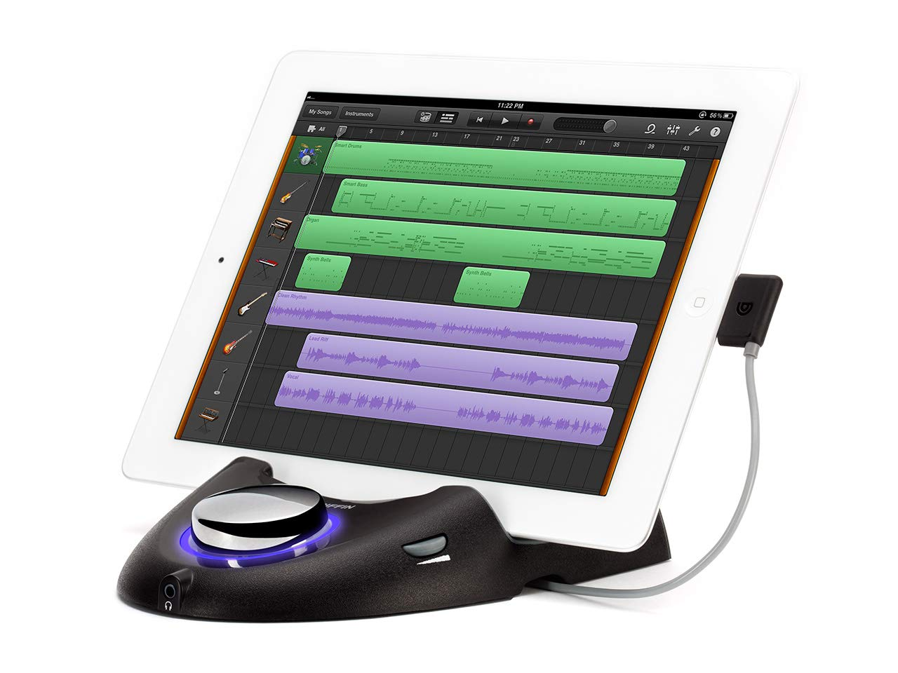 Griffin StudioConnect - Connect your guitar, bass and MIDI instruments to your iPad and GarageBand. Griffin Technology NA17132