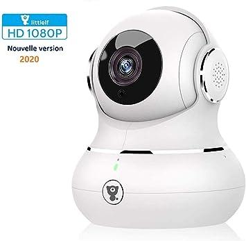 Littlelf Cámara IP 1080P FHD, Cámara de Vigilancia Inalámbrico & LAN Con HD Zoom, Compatible con la aplicación Smart Life, Alexa y Google Home (Blanco): Amazon.es: Bricolaje y herramientas