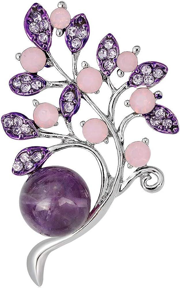 YAZILIND de Diamantes de imitación Hojas Broche de Las Mujeres Breastpin Ramillete niñas cumpleaños Fiesta de la joyería Regalo
