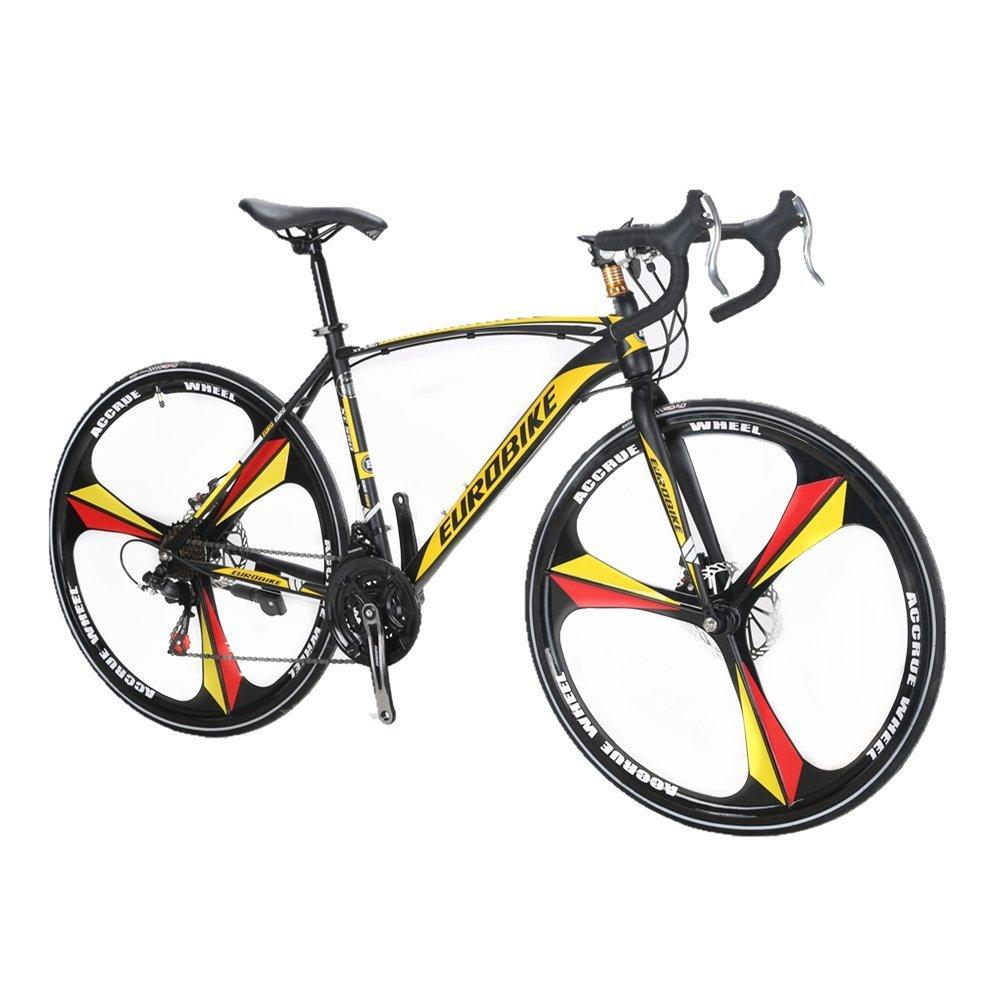 VTSP XC550 自転車 700C ロードバイク シマノ21段 変速 フレーム ディスクブレーキ サイクリング アウトドア お祝い プレゼント B0756996PR黄