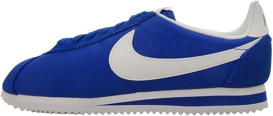 Perforar Denso Hacia arriba  Amazon.com | Nike Men's Classic Cortez Nylon, HYPER BLUE/WHITE-STRATA GREY,  10.5 M US | Fashion Sneakers