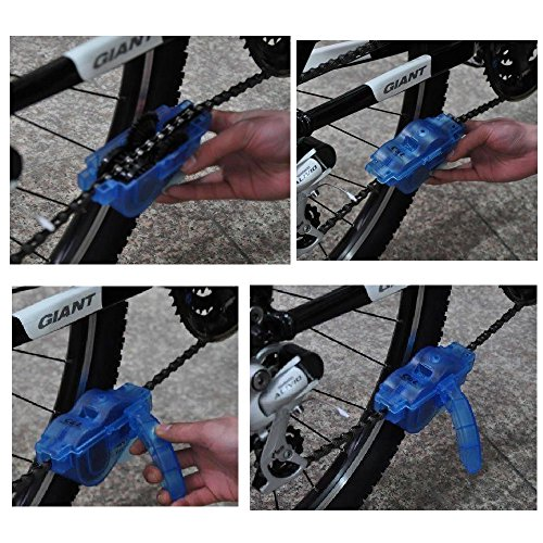 Anndason Bike Chain Cleaning Brush Tool ,Cycling Bike Road Bike Mountain Bikes Chain Scrubber Rotating Brushes Bicycle Maintenance Clean Accessories (5 Pieces)